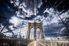 Manhatten Bridge , Brooklyn Bridge, Manhattan / New York / USA