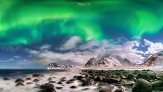 Moonlight Aurora , Lofoten / Norwegen